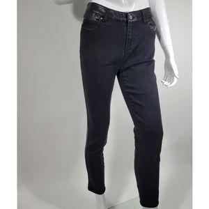 Ecru The Los Feliz Leather Inset Skinny Jean